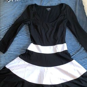 3/$30 Bebe classic black and white dress
